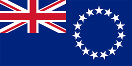 Flag of cook-islands flag.