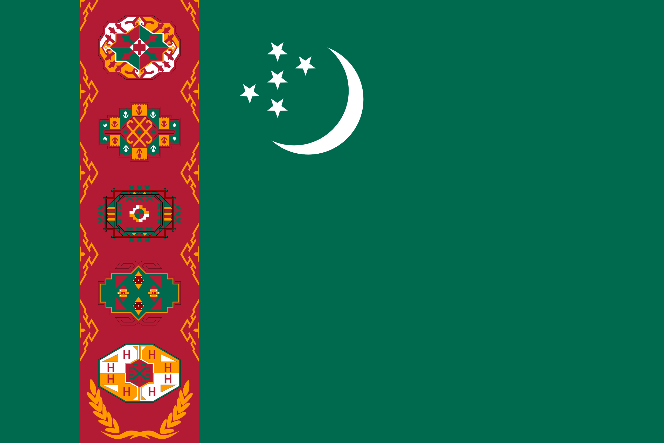 Flag of Turkmenistan